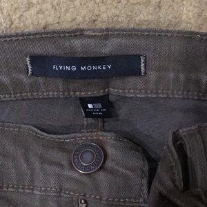 Flying Monkey Olive Green Women's Jeans Size 30